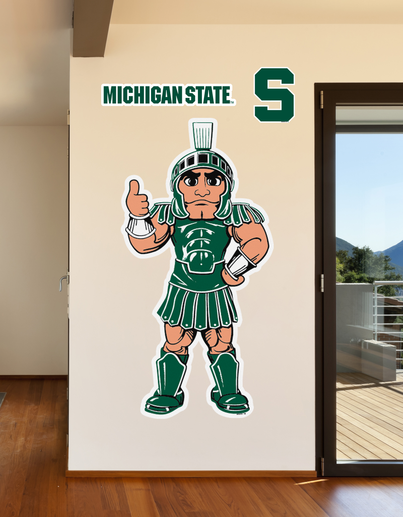 Michigan State Sparty Mascot Life Sized Wall Decal Michigan State Michigan State Sparty Michigan [ 1024 x 800 Pixel ]