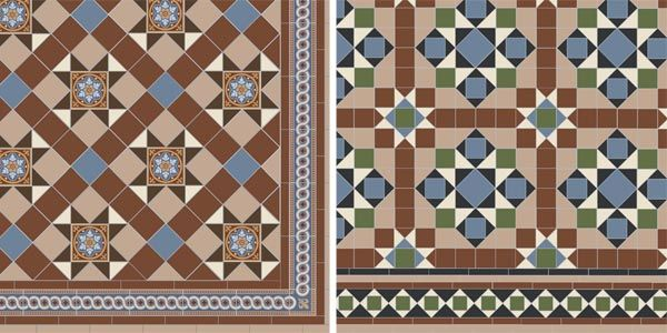 Reproduction period-style tiles from from Original Style\'s Victorian ...