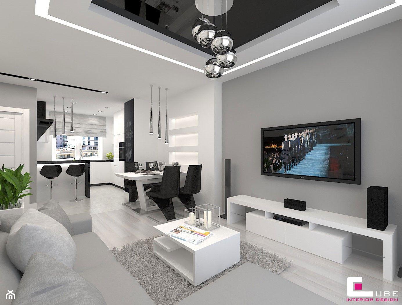 Salon Z Kuchnia Aranzacje Pomysly Inspiracje Strona 2 Homebook Contemporary Decor Living Room Living Room Decor Apartment Home Room Design