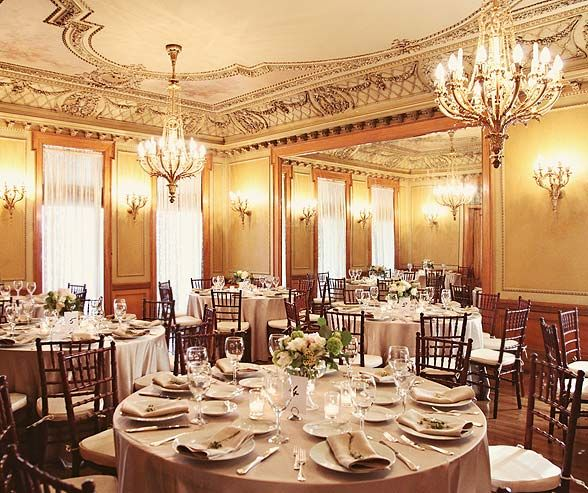 Romantic Elegant Ballroom Wedding: The McCune Mansion's Elegant Ballroom Provides An Ideal
