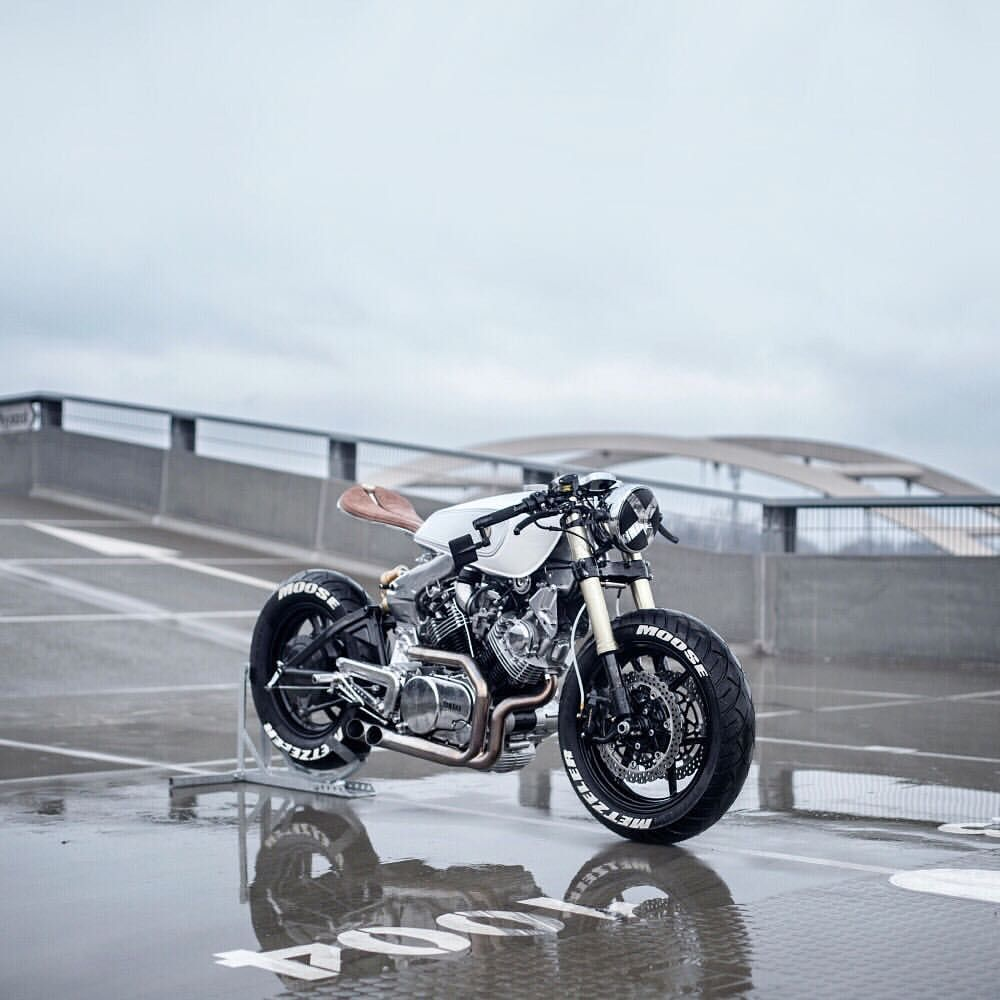 Moose Motodesign Question Good And Evil With Two Yamaha Virago Xv920s Head To Opumo Com Magazine For The Full Story Yamaha Virago Classic Bikes Yamaha