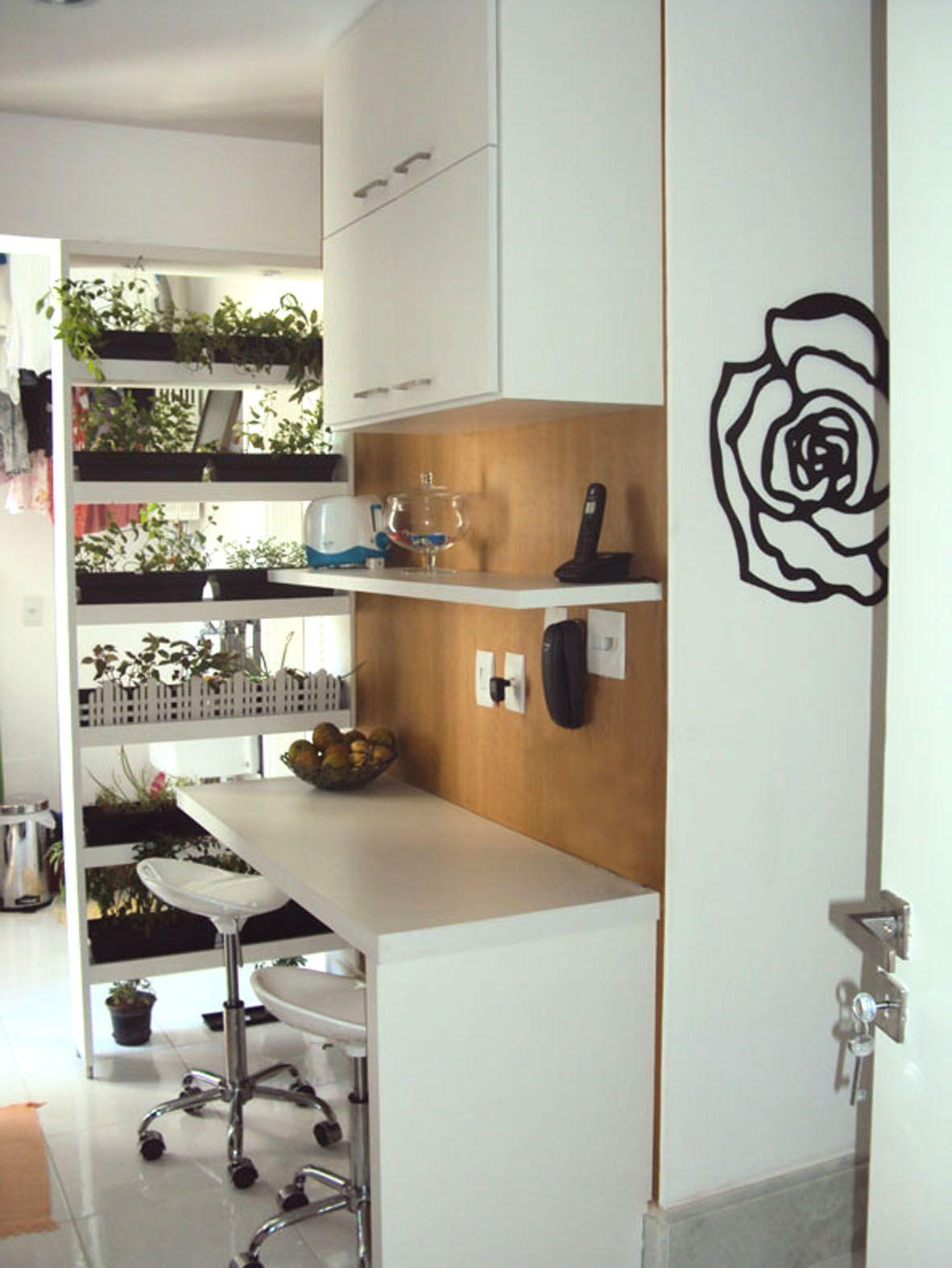 horta como divisória - apartamento barra