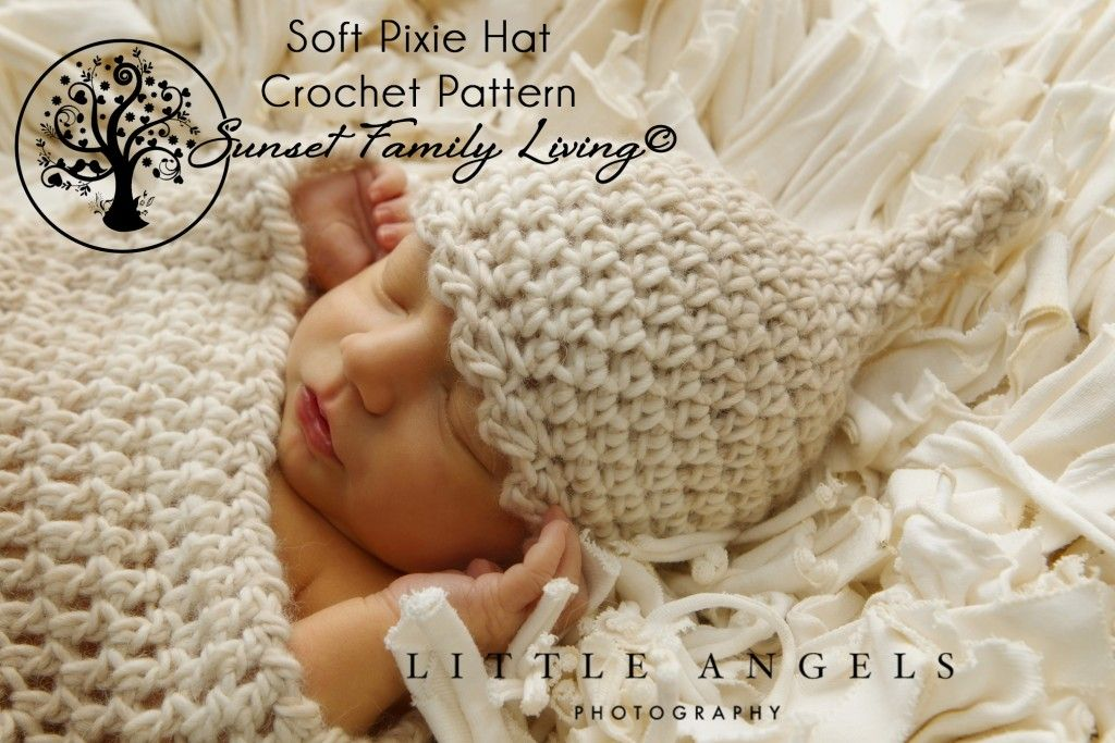 Soft Pixie Hat | Free Infant Crochet Pattern | Newborn Crochet ...