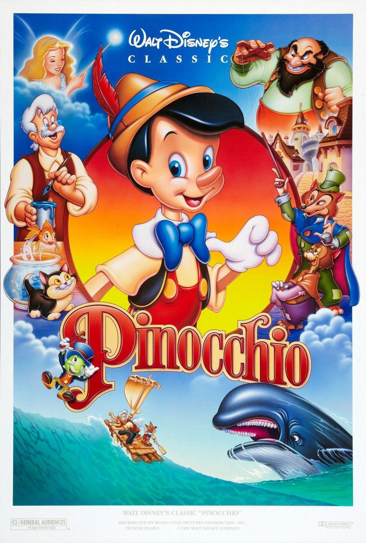 Pinocchio Disney movie posters, Walt disney movies, Kids