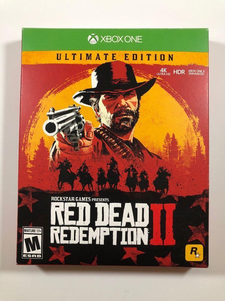 Microsoft Xbox One Red Dead Redemption 2 Ultimate Edition New Sealed Steelbook Reddeadredemption Gaming Xboxone Red Dead Redemption Ps4 Games Red Dead Redemption Ii