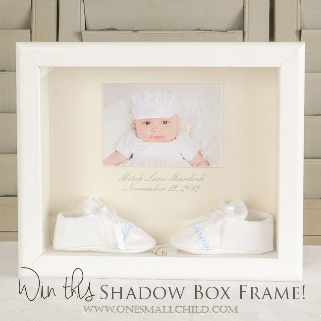 November Giveaway White Shadow Box Frame One Small Child