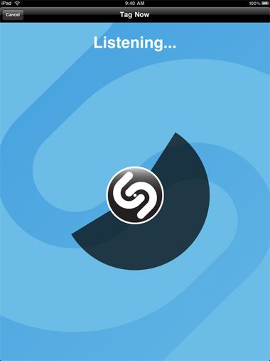 Shazam, app that will identify songs. Rec by Jackie C