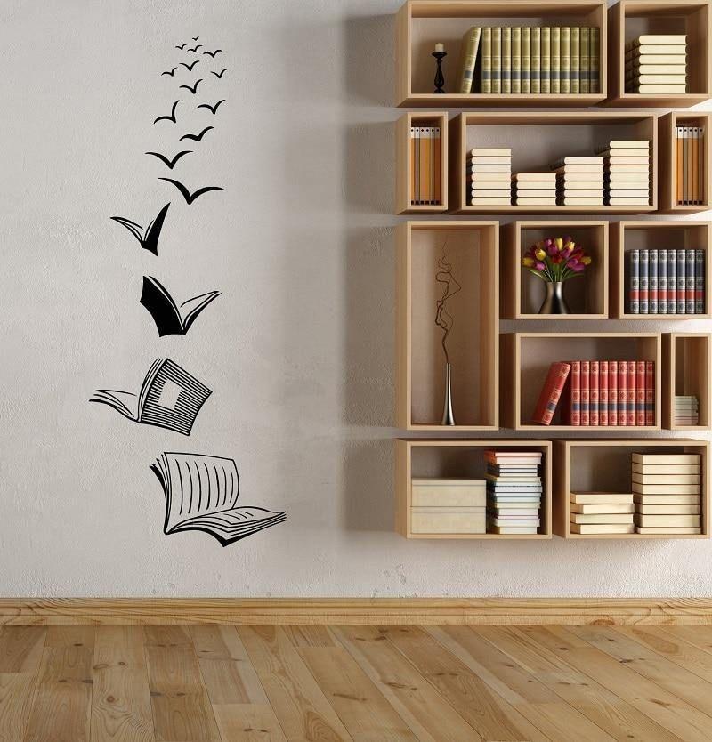 Books Taking Flight Wall Decal In 2021 Wall Stickers Bedroom Wall Stickers Living Room School Wall Art