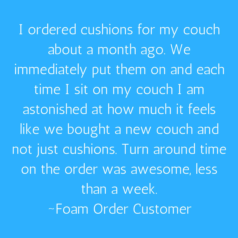 Order Custom Couch Cushions As Replacement Couch Cushions To Feel Like New!  Order Now On