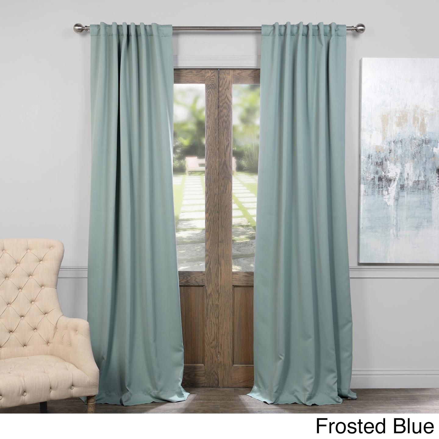 Exclusive Fabrics Thermal Insulated Solid Blackout 96 Inch Curtain Panel Pair Blue Blackout Curtains Teal Blackout Curtains Panel Curtains
