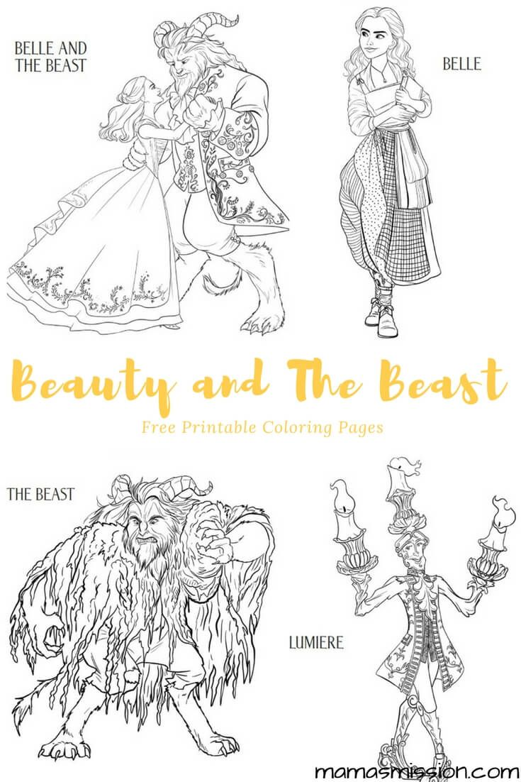 Beauty and the Beast Coloring Pages - Free Printables | coloring ...