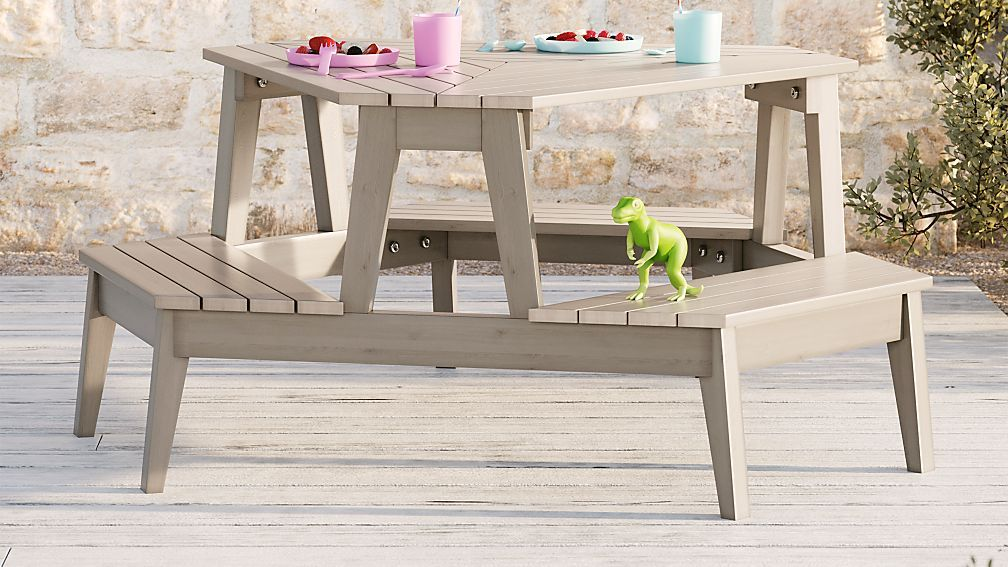 Grey Stain Modern Kids Picnic Table Kids picnic table