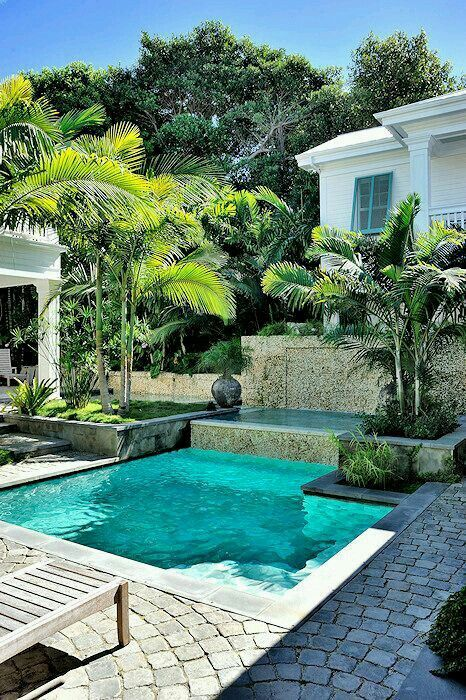 I love the idea of cobblestones by the pool it would go so well
