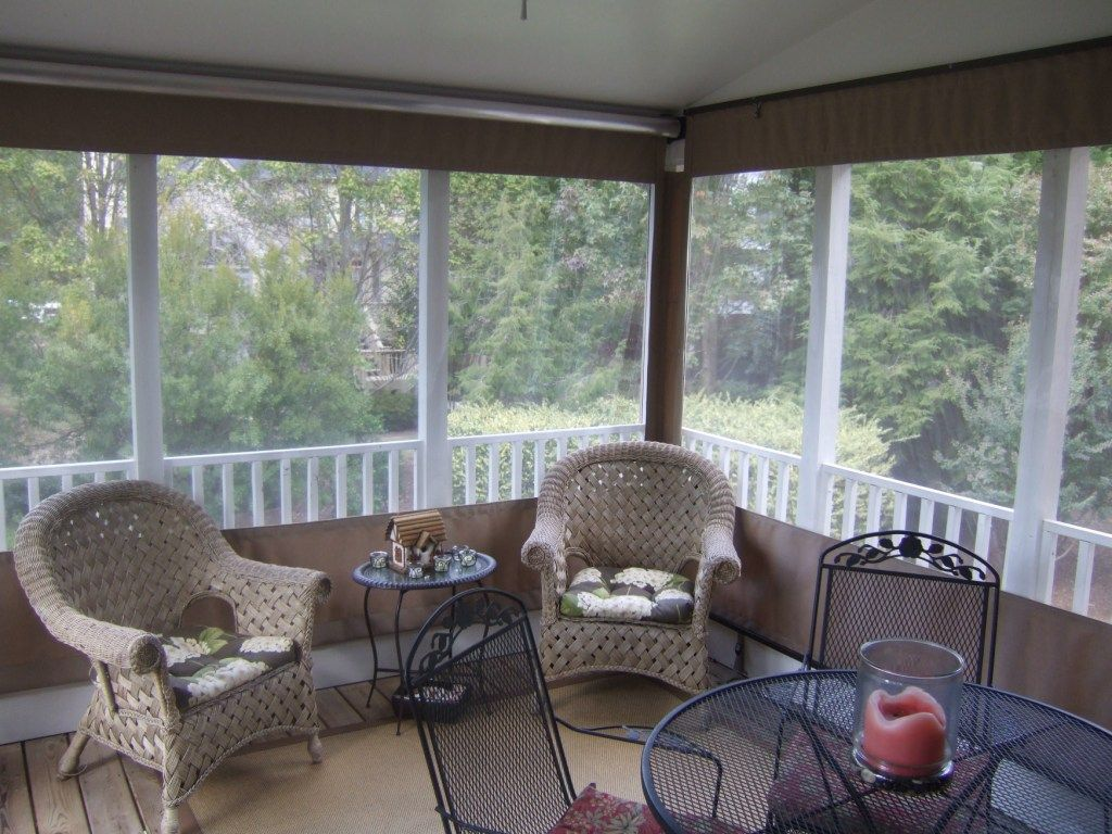 Piedmont Enclosures : Roll Up Porch Curtains