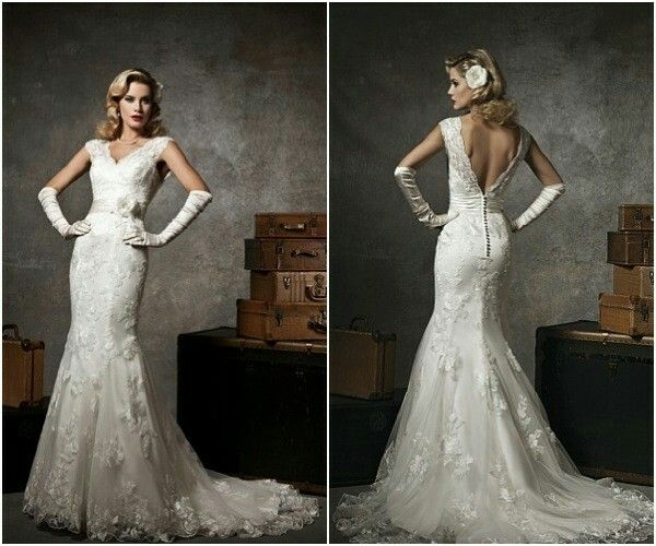 Glamorous, Old Hollywood, Wedding Dress
