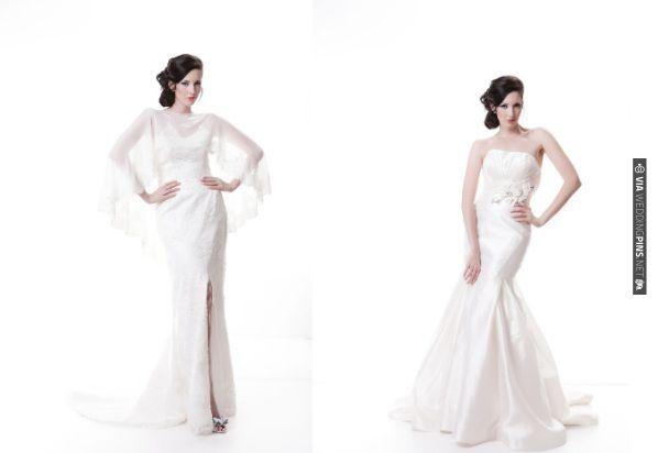 Chic Sarah Houston bridalwear | VIA #WEDDINGPINS.NET