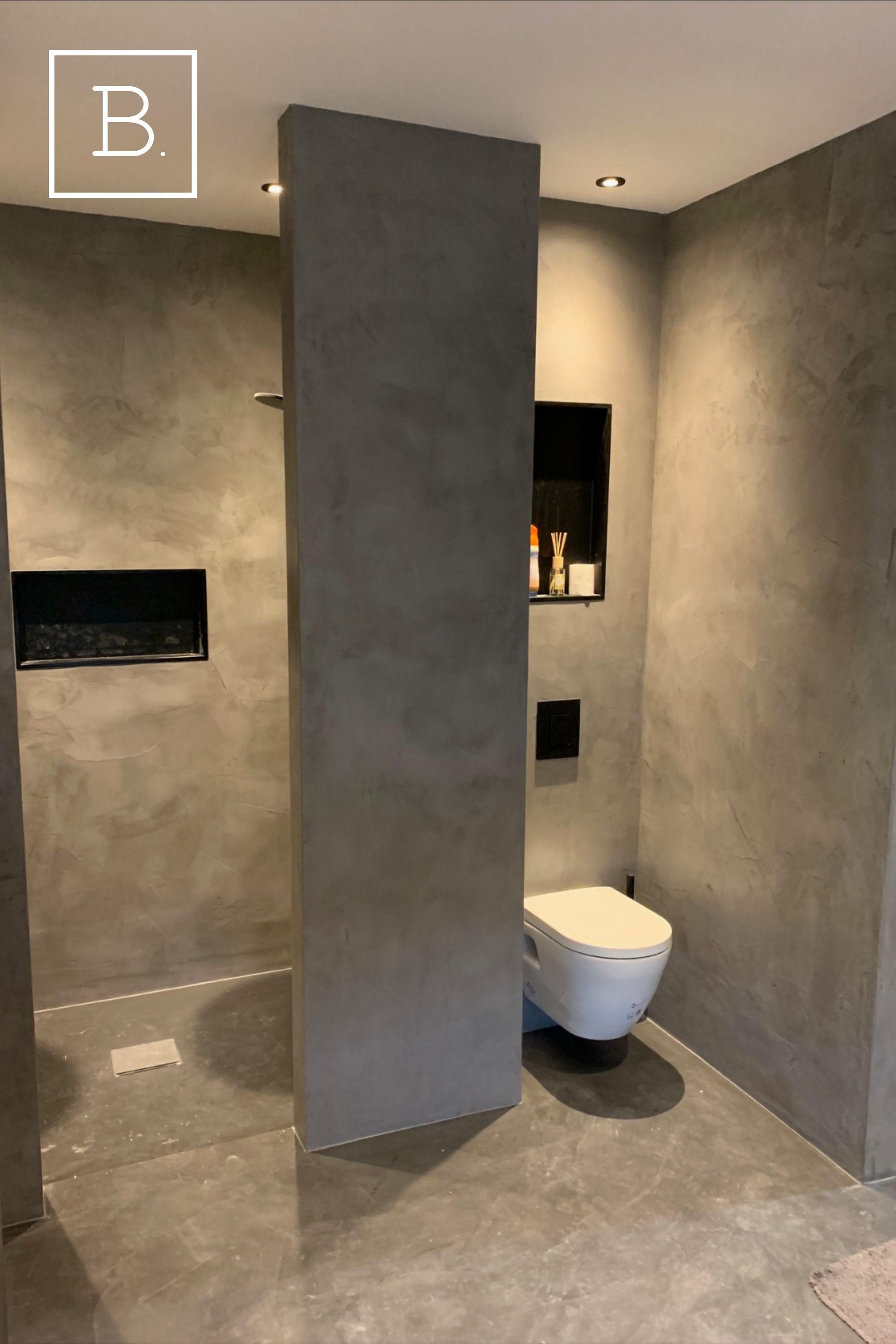 Beton cire wand   Design badkamer, Badkamer ontwerp, Badkamer modern