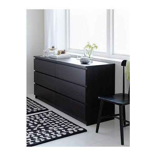 Malm 6 Drawer Dresser Black Brown 63x30 3 4 179 00 Ikea