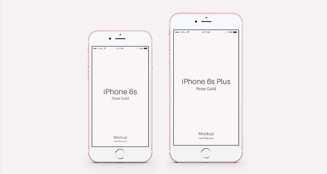 Download Several Views Front Perspective Of The Iphone 6s Plus Rose Edition Smart Object Included Free Download Iphone Mockup Iphone Iphone 6s Rose Gold