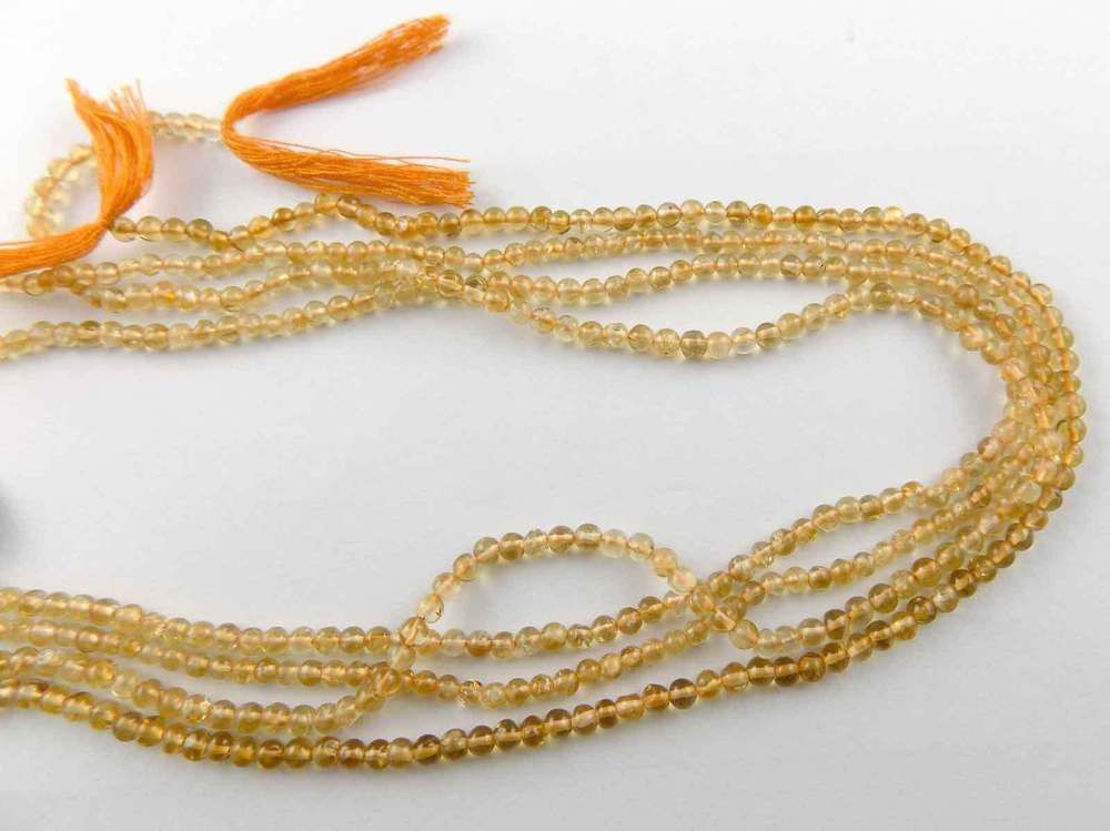 "3 Strand 24k Gold Plated Copper Rondelle Smooth Balls Shape Size 8mm 7/"" Long"