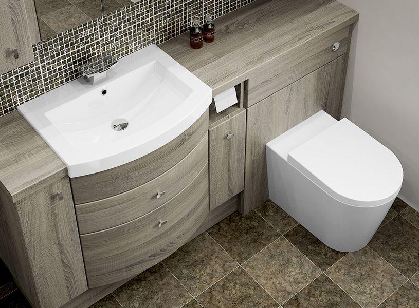 Bardolino Oak Fitted Bathroom Furniture   The Mid Oak Colouring And  Woodgrain Texture Of Bardolino Oak