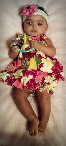 @ 6 month's. My beautiful mixed baby. Mexican and african american. Jasmine Isabella
