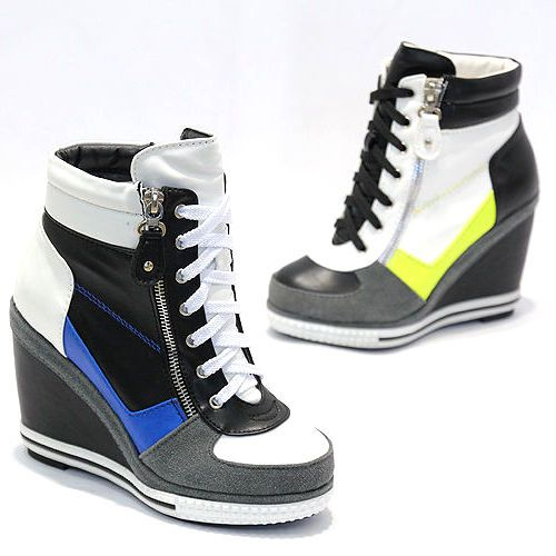Womens High Heel Trainers