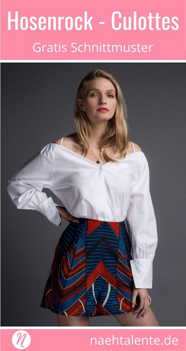Hosenrock - Culottes - gratis Schnittmuster für Damen #diyclothes