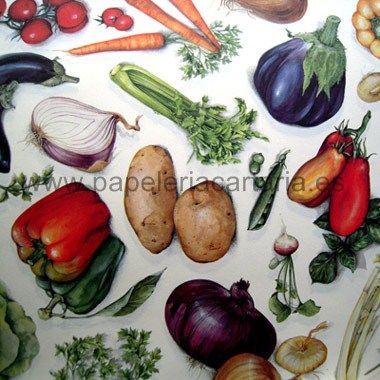 Papel decorativo categor a cocina y viajes hortalizas - Papel decorativo cocina ...
