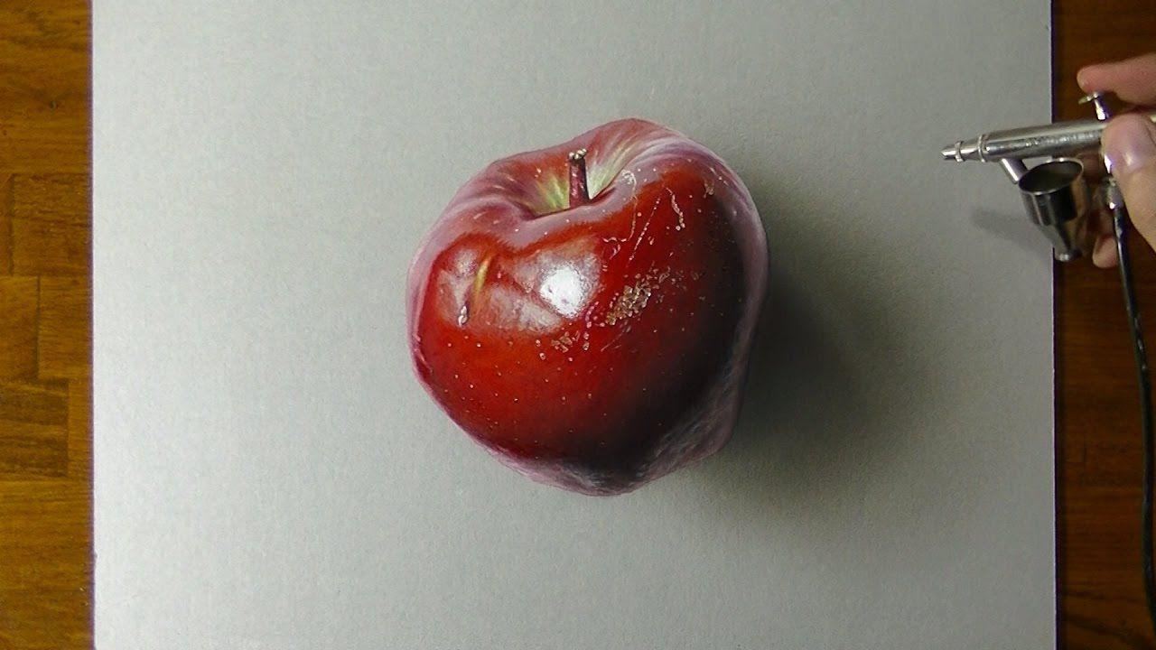 Disegno di una mela rossa come disegnare con effetto 3d for Disegnare una stanza in 3d