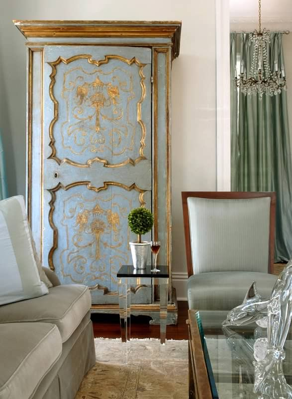 New Orleans New Elegance ..Love this antique bonnetier #antique #painted # furniture - New Orleans New Elegance ..Love This Antique Bonnetier #antique
