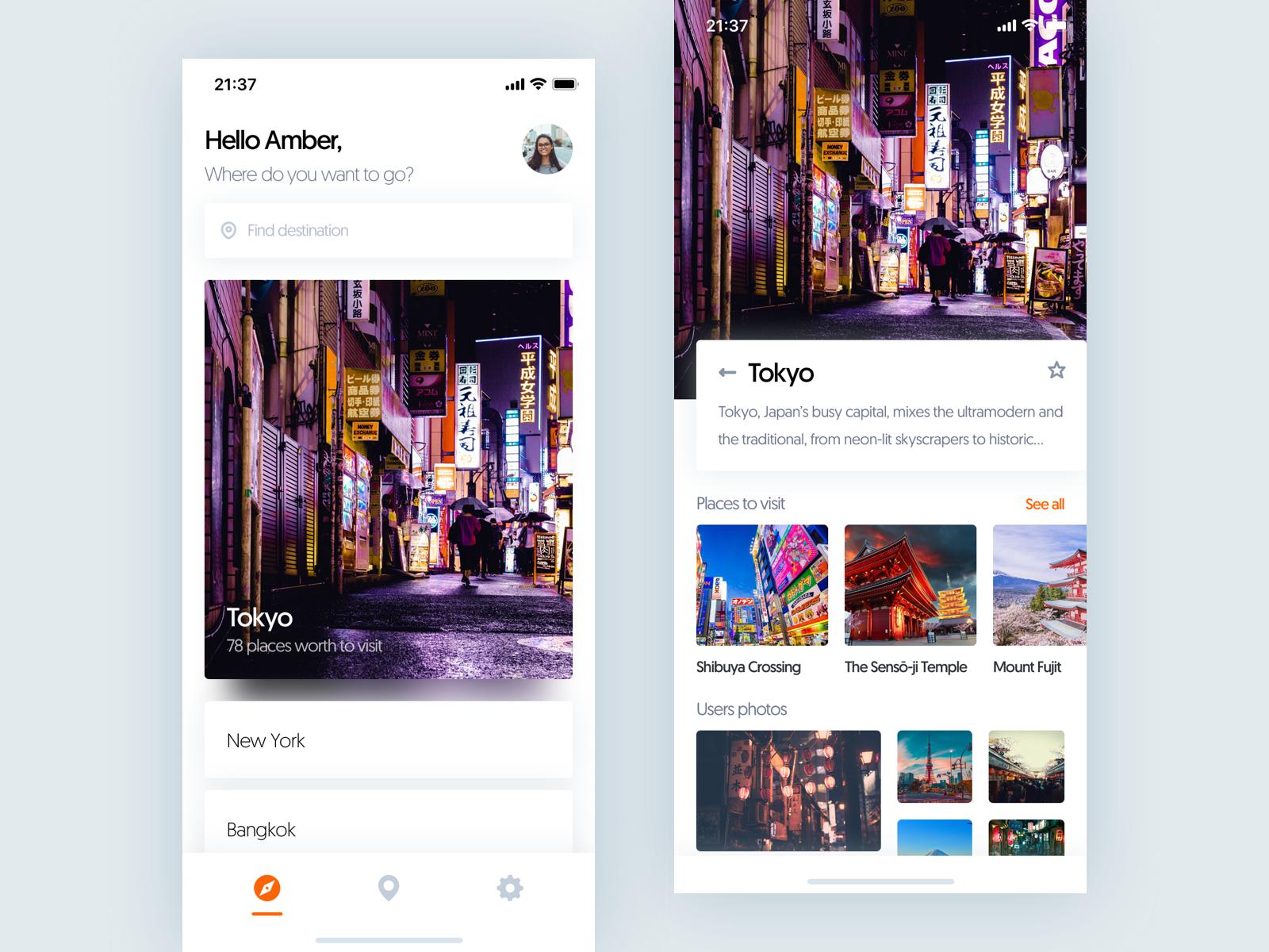 Travel app 🚀   【App】App欣赏   Ios app design, Mobile ui