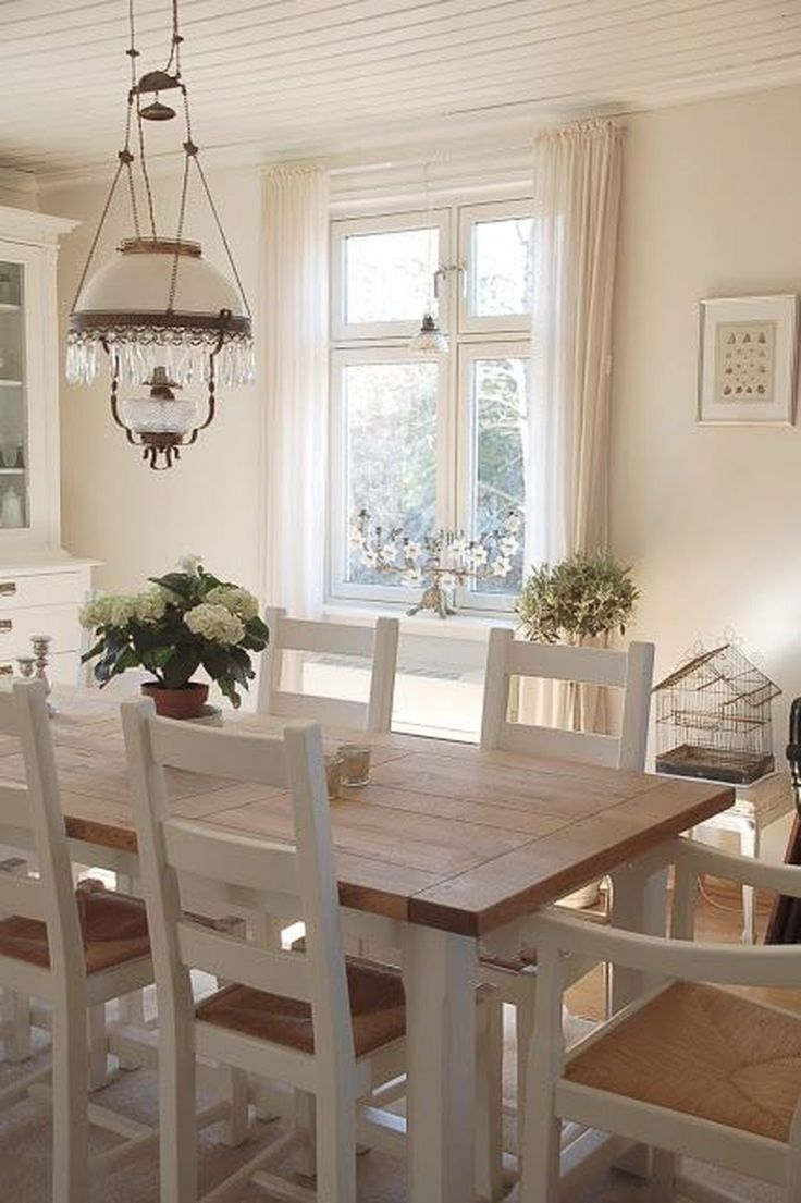 49 Cozy Modern Farmhouse Dining Room Design Ideas ... on Farmhouse Dining Room Curtain Ideas  id=81924