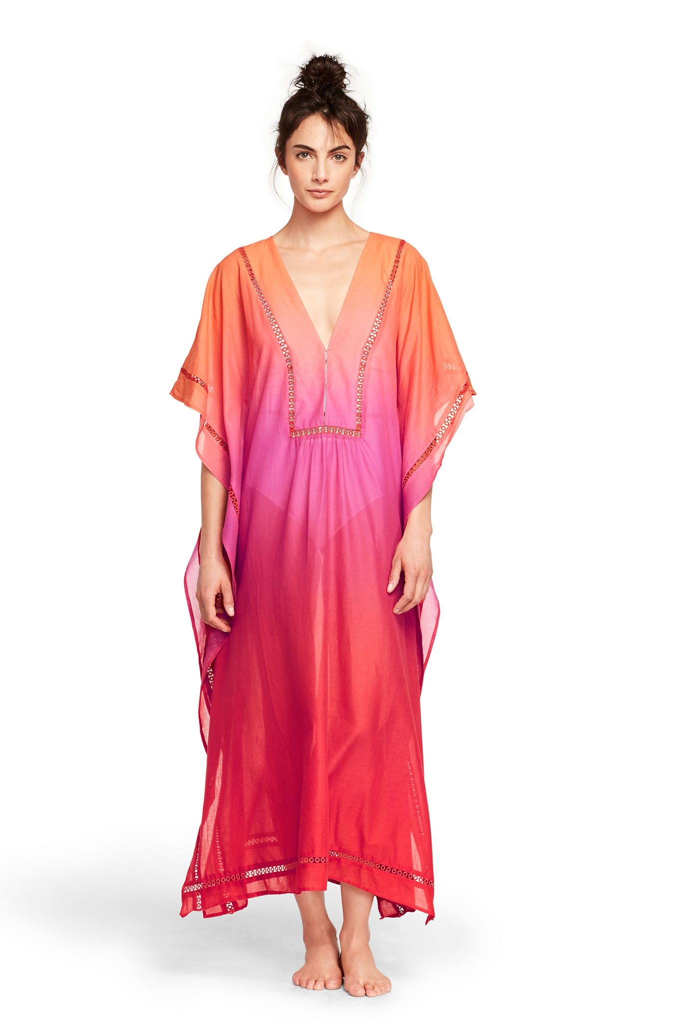 f17660bf853caf Women's Cotton Voile Caftan Cover-up | clothing | Cotton, Cover up ...