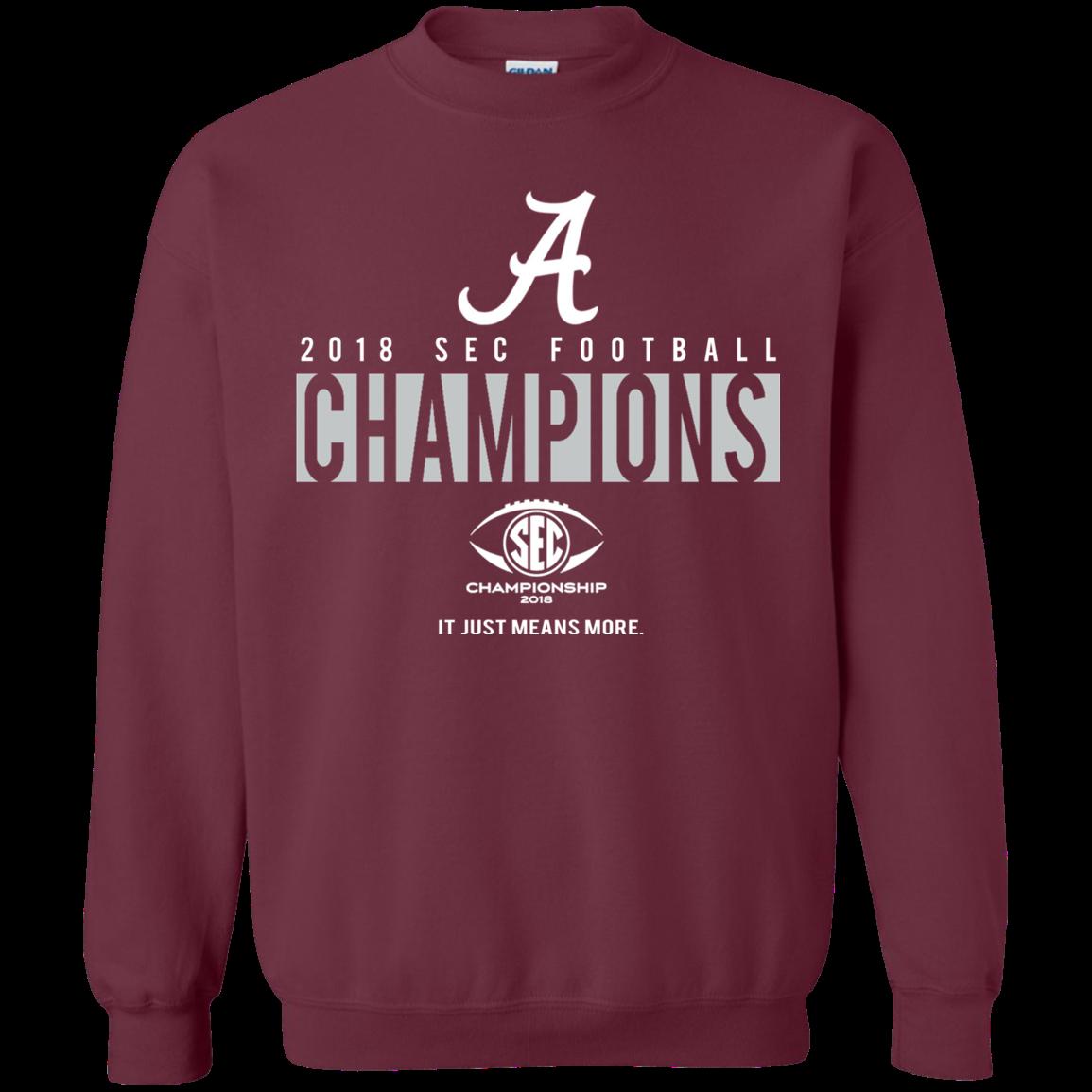 Alabama Crimson Tide Sec Championship Sweatshirt Maroon Shipping Worldwide Ninonine Alabama Crimson Tide Sweatshirts Crimson Tide [ 1155 x 1155 Pixel ]