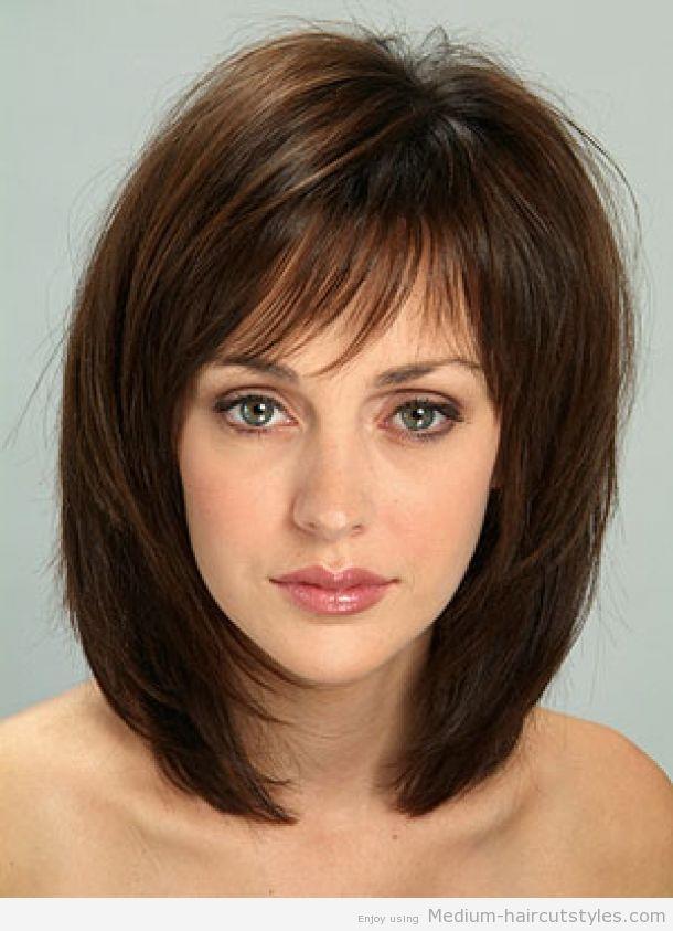 thin hairstyles with bangs - Google Search | Bangs with medium hair, Medium length hair with ...