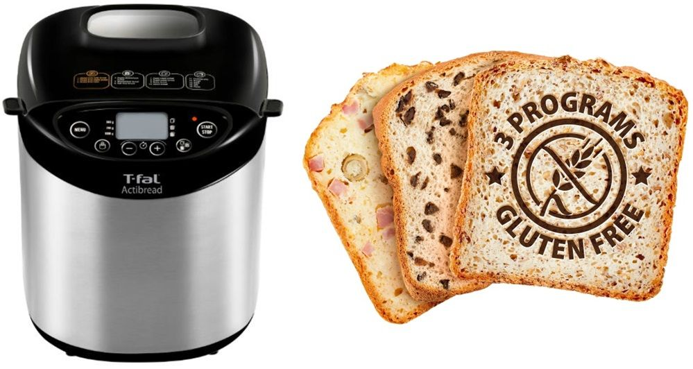 The T-fal ActiBread - make fresh, homemade bread w/easy-to-operate ...