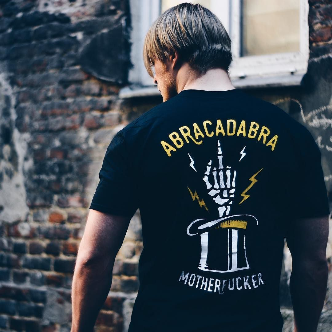 Abracadabra tee available online via the short link in bio