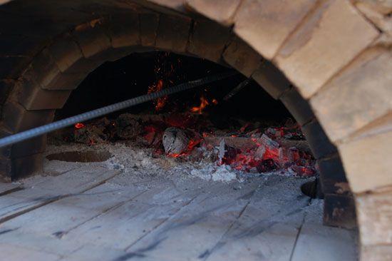 Steel utensils in oven
