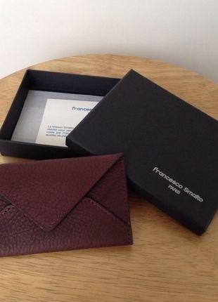 576231c3fbe4 A vendre sur  vintedfrance ! http   www.vinted .fr mode-hommes mode-hommes-autre 17036108-porte-cartes-forme-enveloppe-francesco-smalto-neuf