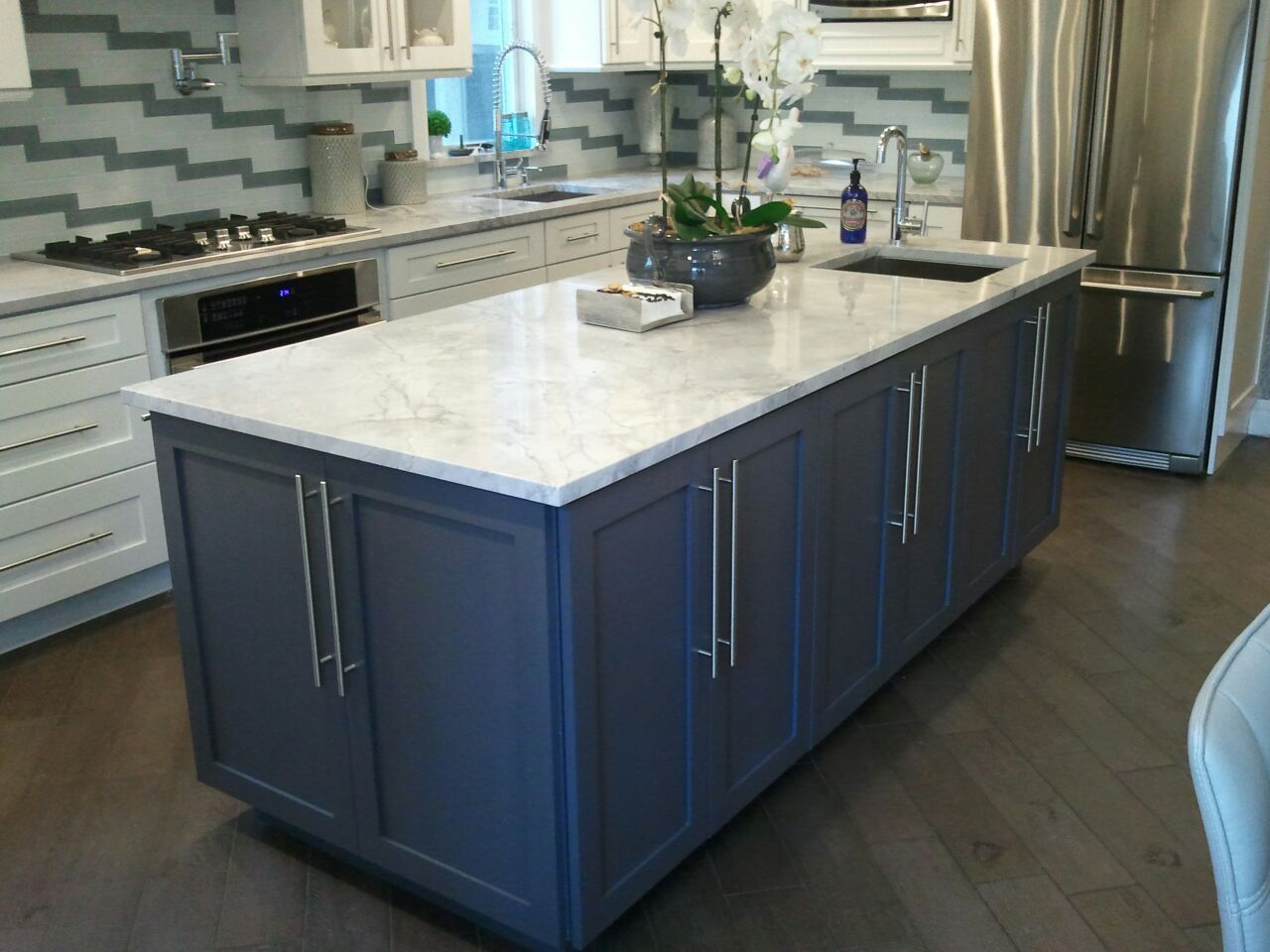 Recently Completed in Brooklyn! Cabinets: Painted White Shaker with ...