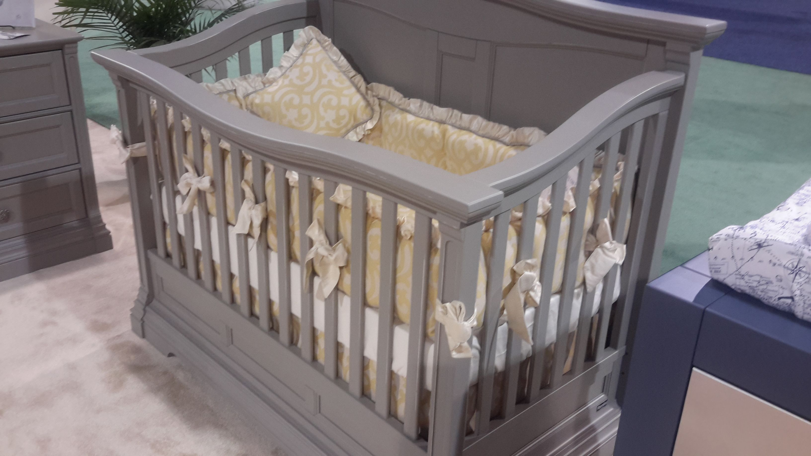 skirt crib large and inch carousel pink gold designs chevron three tier length pale