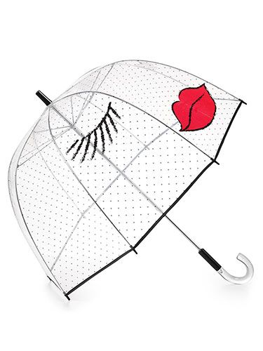 5836d6ca4 Rainy day gear we love: SWAK. Felix Ray Kissy Face Umbrella, $65,  Bloomingdales.