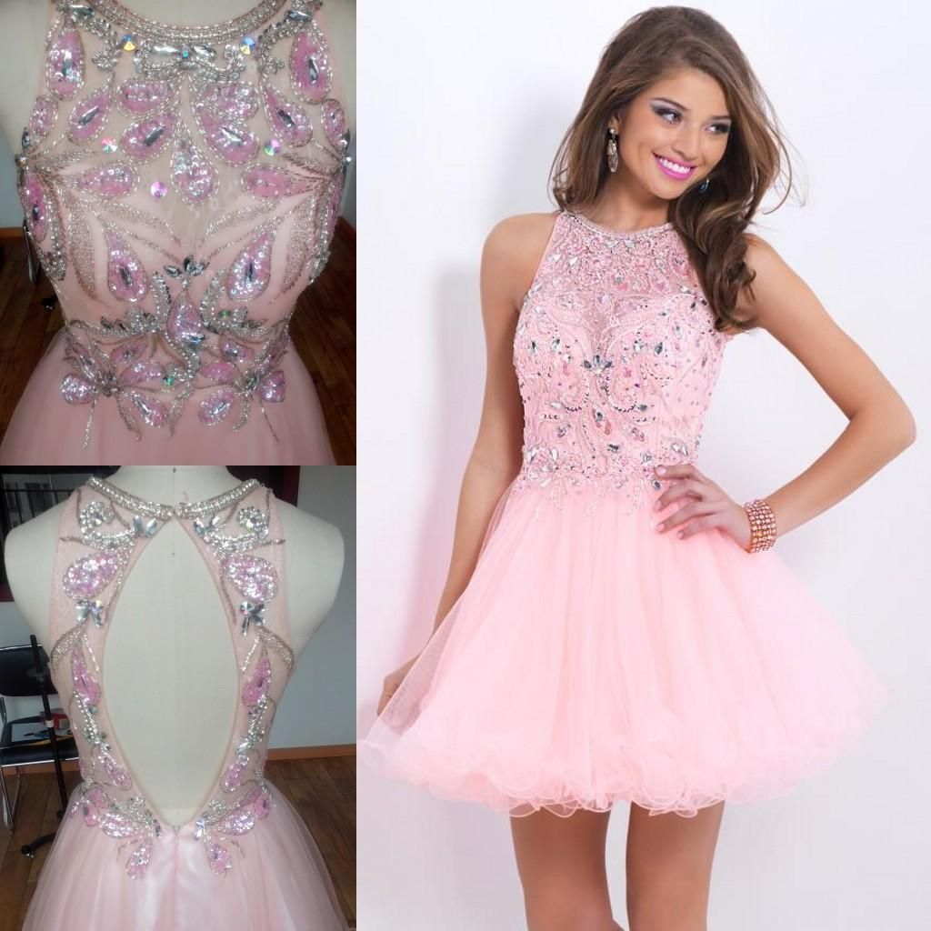 2015 Short Pink Prom Dresses Cheap Under 90$ In Stock Original Real ...