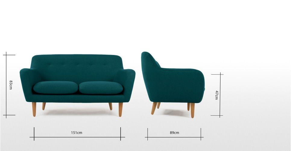 Dylan 2 Seater Sofa Mineral Blue 2 Seater Sofa Sofa Design Seater Sofa