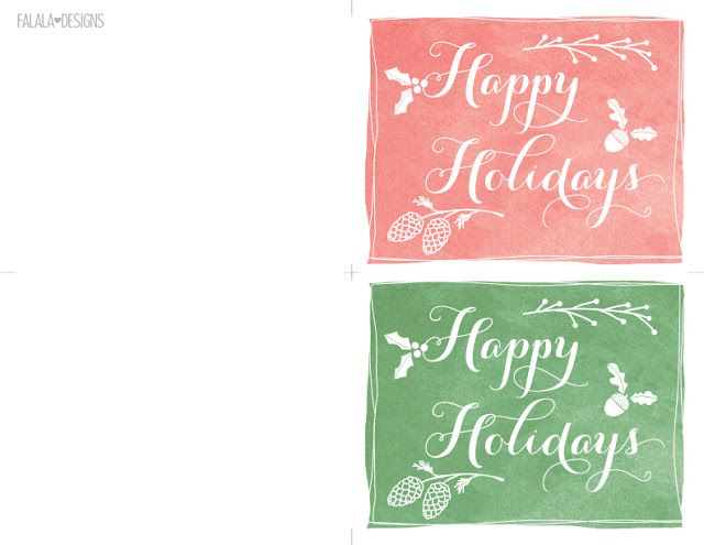 graphic regarding Happy Holidays Printable Card named Joyful Vacations Mini Playing cards Printable Xmas Printables