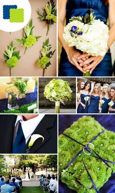 Awesome Navy Blue And Green Wedding Contemporary Styles Ideas