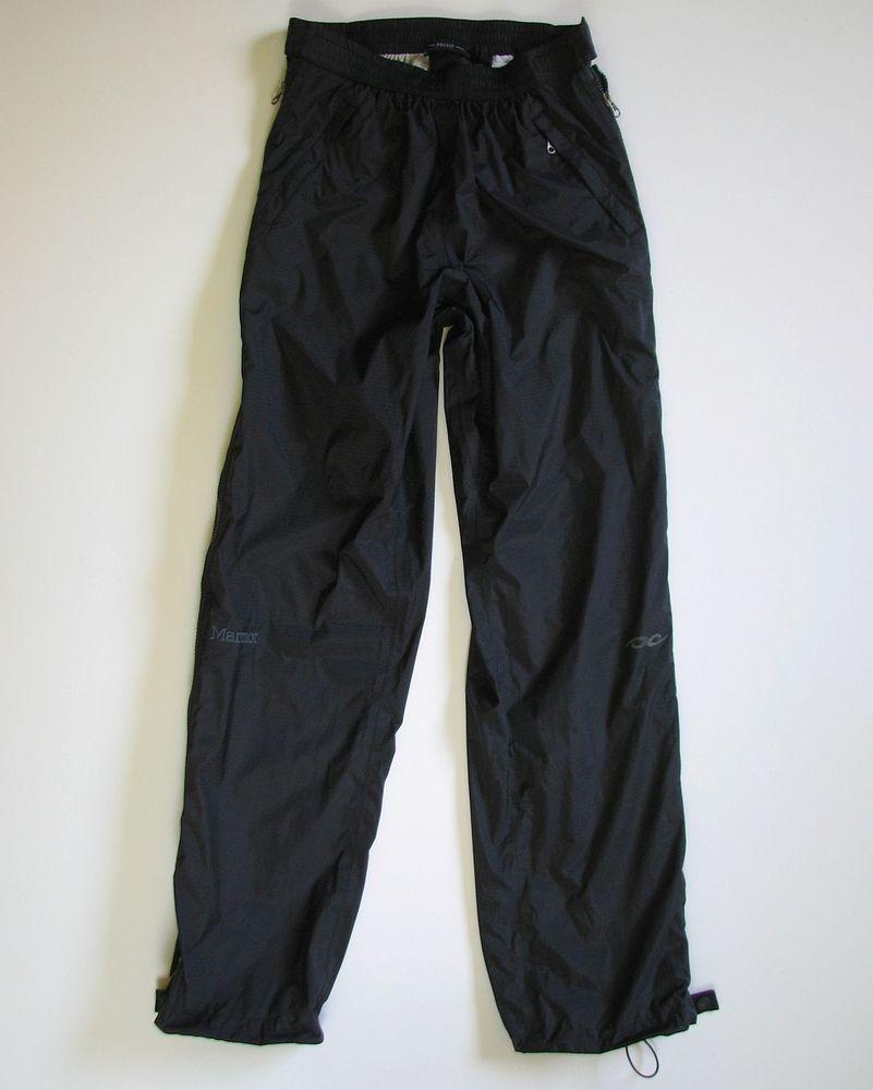 8d8df34d6f4 MARMOT PRECIP WOMENS M FULL ZIP BLACK WATERPROOF RAIN PANTS  Marmot  RAIN