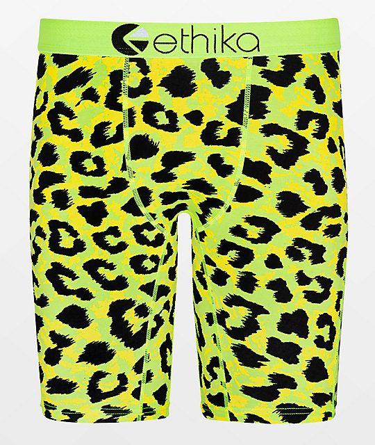 Fascinating Cats Collection Yellow Clothing Men Underwear Elastic Boxer Briefs S