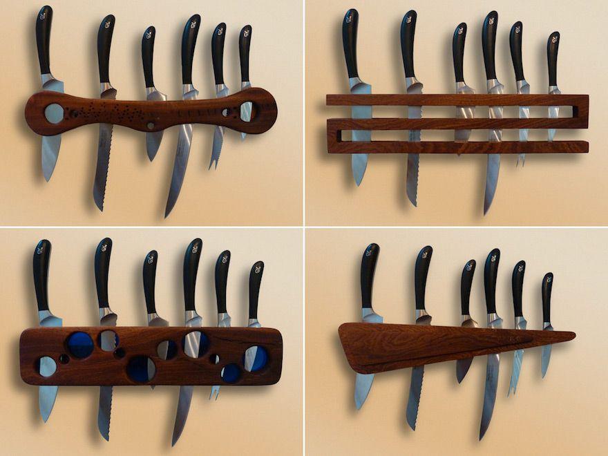 Woodwork Designs reverie-wood-design-knife-racks | packaging | pinterest